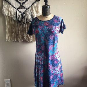 Title Nine Teal Floral Dress